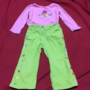 Girls sz 2 T gymboree outfit Cute for Holidays